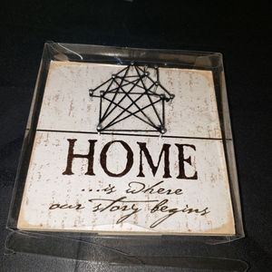 Home Is Where Our Story Begins Home Decor Art Sign